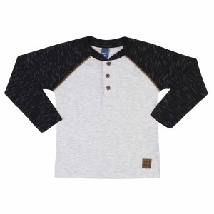 Camiseta Manga Longa Off White Preto TMX
