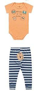 Conjunto body e calça Safari