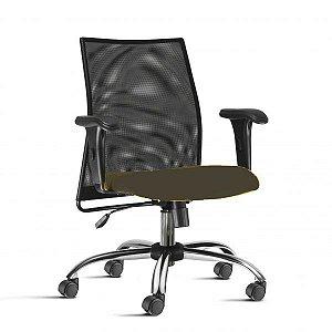 Cadeira Office Giratória Liss preta