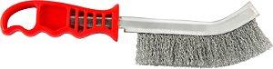 Escova De Aco Carbono com Cabo Plástico Manual Brasfort 7274