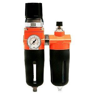 Filtro De Ar Para Compressor Com Regulador E Manômetro 1/2