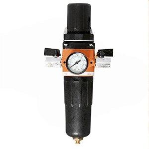 Filtro De Ar Para Compressor Com Regulador  Manômetro 1/2