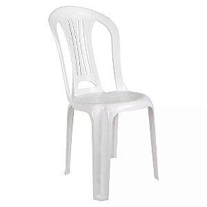 Cadeira Bistro Sem Braco Branca Mor 15151103