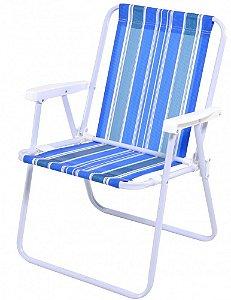 Cadeira Praia E Piscina Mor Polietileno Aço - Ref 2002