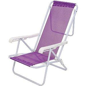 Cadeira Praia Reclinavel 8 Posicoes Aco Mor - Ref 2290