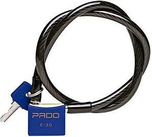 Cadeado Para Bicicleta Sm E-30mm X 1,20 Metros Cores Pado