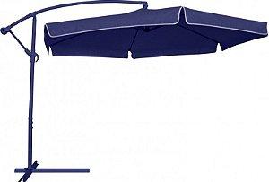 Ombrellone Suspenso Manivela 2,50 Mts Cor Azul - 850200