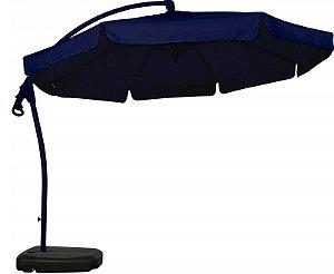 Ombrelone Suspenso 3m Giratório 360º Bel Fix - Azul 891002