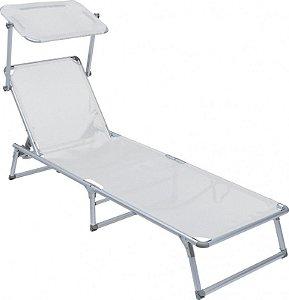 Cadeira Espreguiçadeira Alumínio 25705 Branca Bel