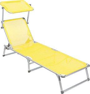 Cadeira Espreguiçadeira Alumínio 25705 Amarela Bel