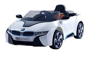 Carro Eletrico Modelo Bmw Branco Com Controle Remoto 6v  Bel