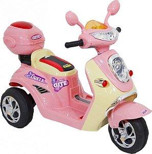 Moto Eletrica Infantil Lambreta Rosa - Belfix 912800