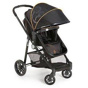 Carrinho De Bebê Galzerano Gero Preto/laranja 1050ptl