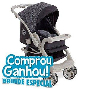 Carrinho Bebê Galzerano Optimus Preto/cinza 1410gpcz