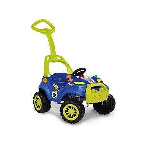 Carrinho De Passeio Smart Com Pedal Azul Bandeirante 463
