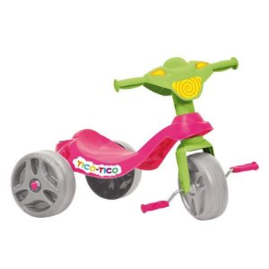 Triciclo Tico-tico Rosa Bandeirante 652