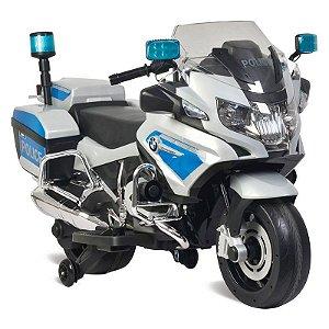 Moto Elétrica 12v Bmw Policia Bandeirante 2620