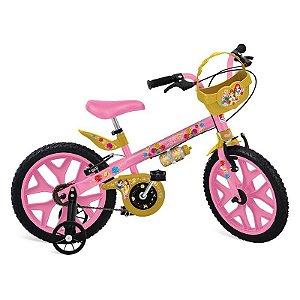 Bicicleta Infantil Aro 16 Bandeirante Princesas Disney 3109