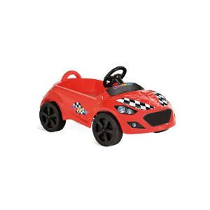 Carrinho Infantil A Pedal Roadster Vermelho Bandeirante