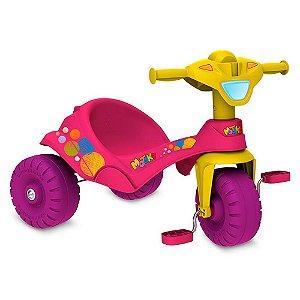 Triciclo Bandeirante Motoka Passeio E Pedal Rosa 844