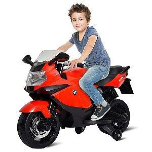 Moto Elétrica 6v Bmw K1300 Vermelha Bandeirante 2731