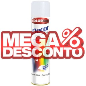 Tinta Spray Decor Branco Fosco 350ml - Colorgin