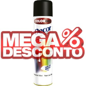 Tinta Spray Decor Preto Fosco 350ml - Colorgin