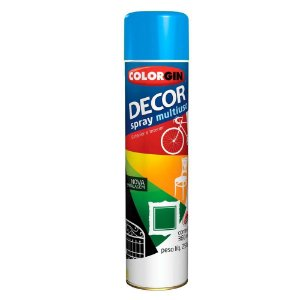 Tinta Spray Decor Azul Médio 350ml - Colorgin