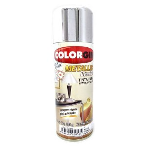 Tinta Spray Metallik Cromado 350ml - Colorgin