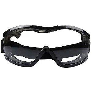 Óculos Segurança Ampla Visão Incolor Evolution Carbografite