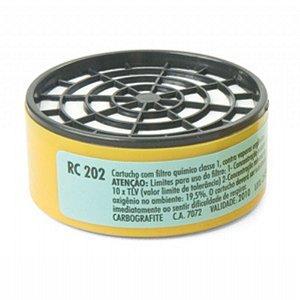 Cartucho Para Máscara Respiratória - Rc-202 - Carbografite