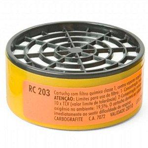 Cartucho Filtro Rc 203 P/ Respirador Semifacial Cg 306 Carbo