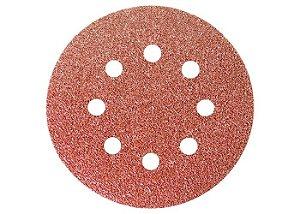 Disco Lixa Com Velcro Com 8 Furos Mtx 5 Polegadas Grão 24