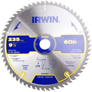 Disco Serra Circular Por 9.1/4 X 60 D X 25 Mm His1907b Irwin