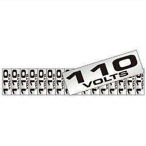 Placa Em Aluminio 5 X 25 Etiqueta 110v De Voltagem