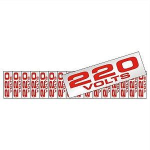 Placa Em Aluminio 5 X 25 Etique 220v De Voltagem