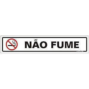 Placa De Sinalização Não Fume Sinalize