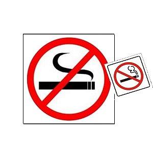 Placa De Sinalização Proibido Fumar Sinalize