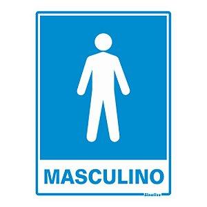 Placa 15 X 20 Poliestireno Sanitario Masculino