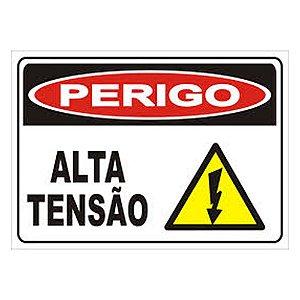 Placa Poliestireno 20x30 Perigo Alta Tensão
