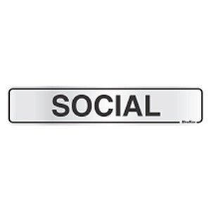 Placa Em Aluminio 5 X 25 Social