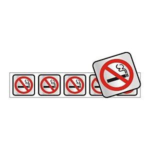 Placa Em Aluminio 5 X 25 Simbolo Nao Fume