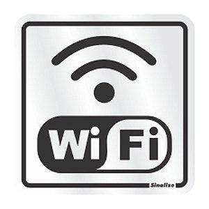 Placa Em Aluminio 15 X 15 Wifi