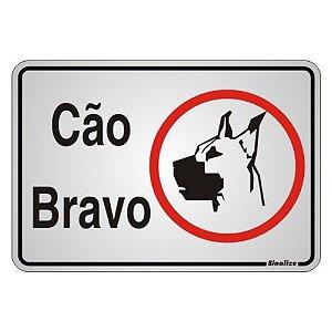 Placa Em Aluminio 16 X 23 Cao Bravo