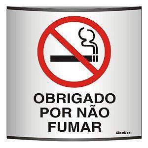 Placa Calandra Em Alum 14 X 14 Obrigado Por Nao Fumar