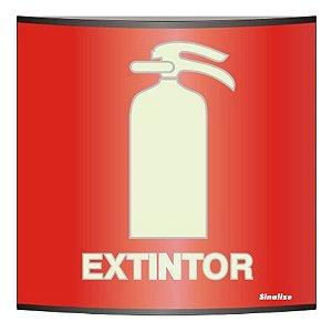 Placa Calandra Em Alum 14 X 14 Extintor