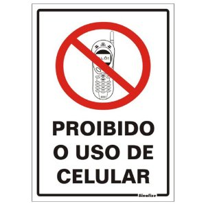 Placa Poliestireno 20 X 30 Proibido Uso De Celular