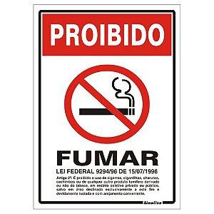 Placa Poliestireno 20 X 30 Proibido Fumar