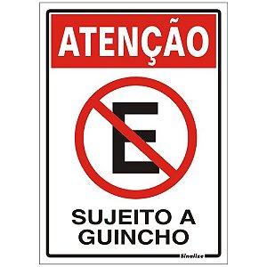 Placa Poliestireno 20 X 30 Proibido Estacionar Sujeito Guinc