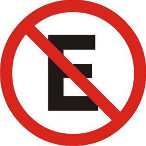 Placa Poliestireno 45 Cm - Proibido Estacionar